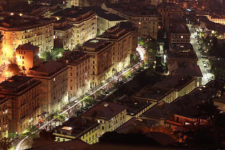 Genova Street by night